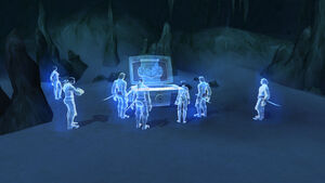 Spectral pirates at the Blackguard's Forgotten Cove on the Timeless Isle