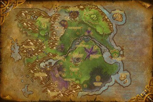 Twilight Highlands map