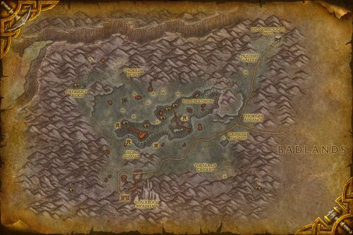 Searing Gorge map