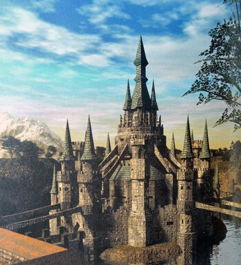 Artwork of Hyrule Castle from Twilight Princess