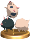 SSBB Pigs Trophy Model.png