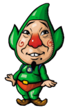 Tingle as he appears in his first solo game.