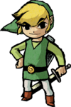 Artwork of Link in The Wind Waker