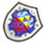The sprite for the Hylian Shield from A Link Between Worlds