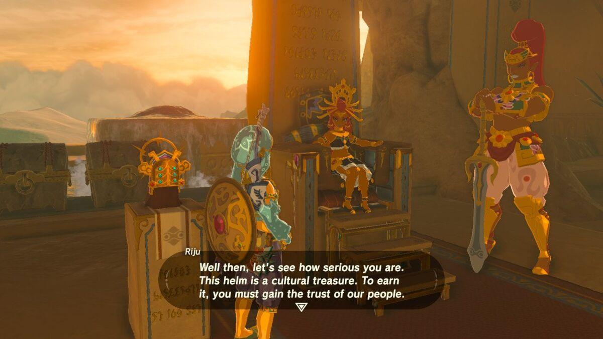 Gerudo Town Breath Of The Wild >> The Thunder Helm - Zelda Wiki