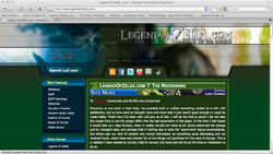 Screenshot of the new LoZ.com homepage