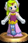 SSBB Zelda (Wind Waker) Trophy Model.png