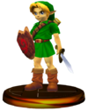 SSBM Young Link Trophy Model.png