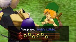 Impa teaches Link Zelda's Lullaby