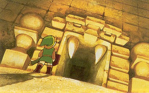 TLoZ Link Entering Dungeon Artwork.png