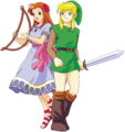 LADX Link and Marin Artwork.png