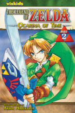 The cover of the Ocarina of Time Manga Part 2.