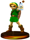 SSBM Young Link (Smash) Trophy Model.png