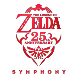 The official logo of the Zelda 25th Anniversary Symphony