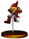 SSBM Link (Smash) Trophy Red Model.png