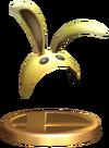 SSBB Bunny Hood Trophy Model.png