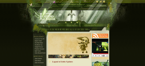 Screenshot of the Hidden Triforce homepage