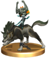 SSBB Wolf Link Trophy Model.png