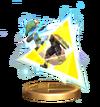 SSBB Triforce Slash (Toon Link) Trophy Model.png
